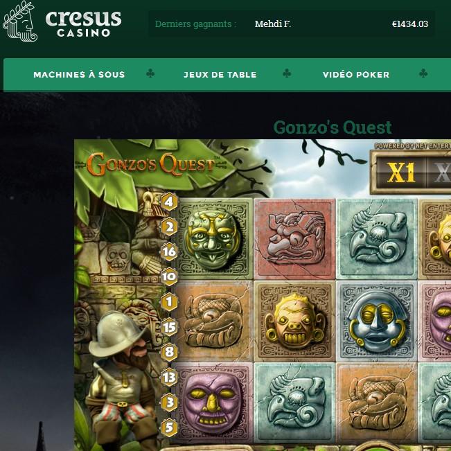 Machines a sous Netent sur Cresus Casino