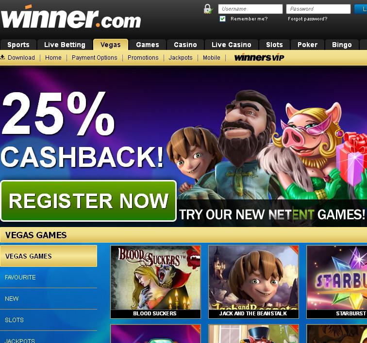 winner casino promo code