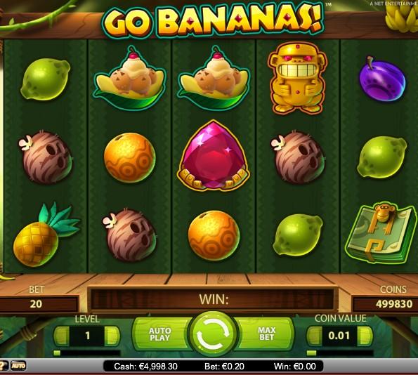 Machine a sous Go Bananas de Netent