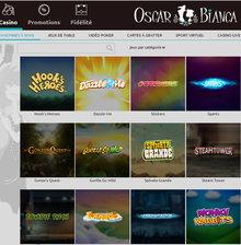 Oscar Bianca Casino et ses machines a sous Netent
