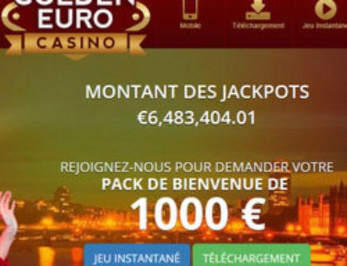 La cagnotte du jackpot progressif du Golden Euro Casino s'affole