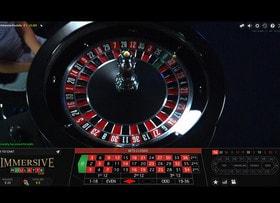 Plan ralenti sur la roulette immersive