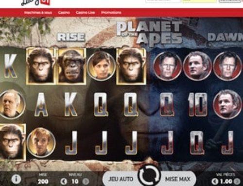 Jouez sur la machine à sous Planète des Singes sur Lucky31 Casino