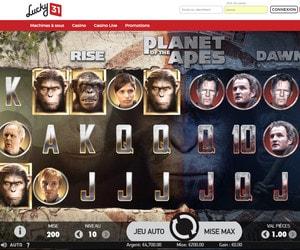 Machine à sous Planete des Singes sur Lucky31 Casino