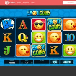 Machine à sous Emoticoins du logiciel Microgaming sur Stakes Casino