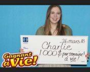 Charlie Lagarde, la gagnante de l;a loterie de Loto Québec